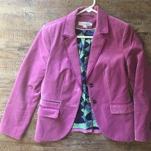 Boden pink / purple velvet blazer. 6p